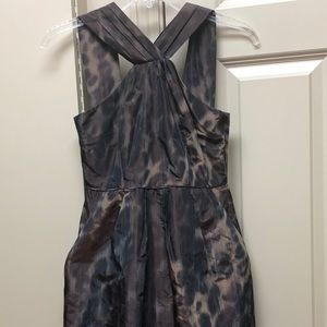 Taffeta Animal Print Banana Republic Petite Dress